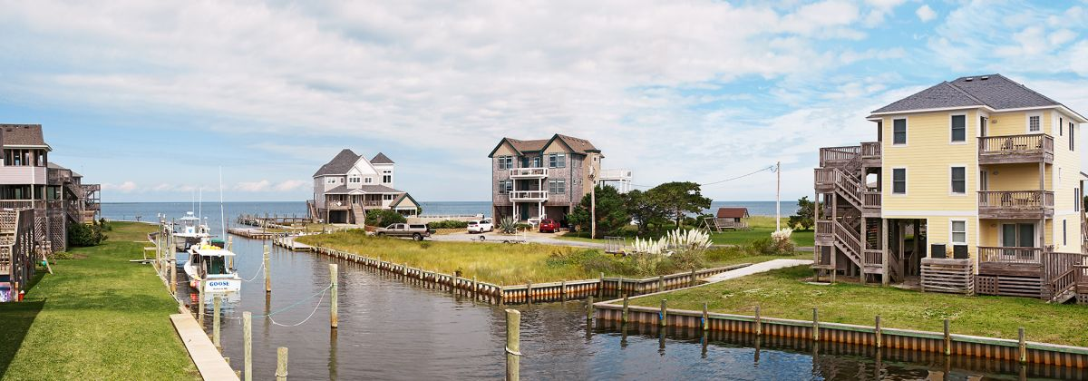 Hatteras Island Canalfront homes