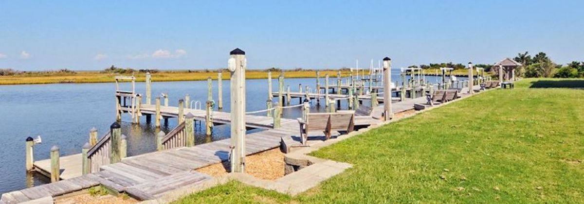 Hatteras Rentals with a Boat Dock