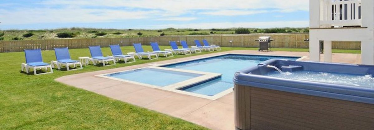 Hatteras vacation rental with a hot tub
