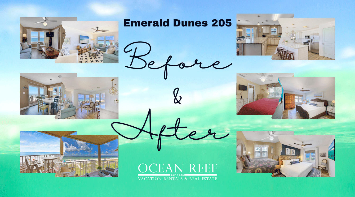 Emerald Dunes 205 Before & After