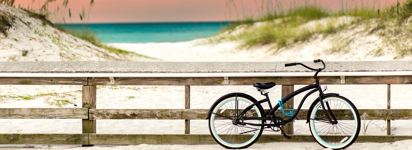 Bicycle on Beach in Destin & South Walton
