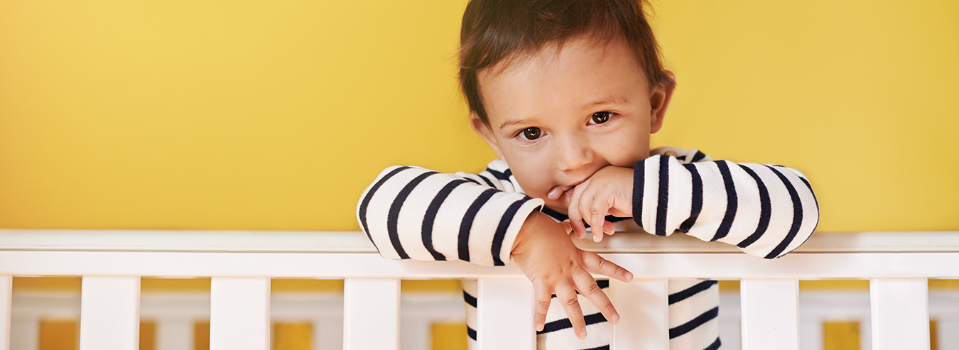 Baby in Crib: Destin Crib Rentals