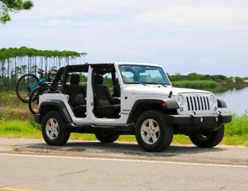 Jeep with Bikes on the Back: Discount Jeep Rentals