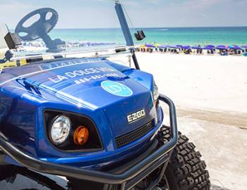 Golf Cart Rental: Blue