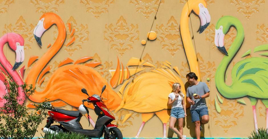 Tropical Vibes Destin Commons Mural