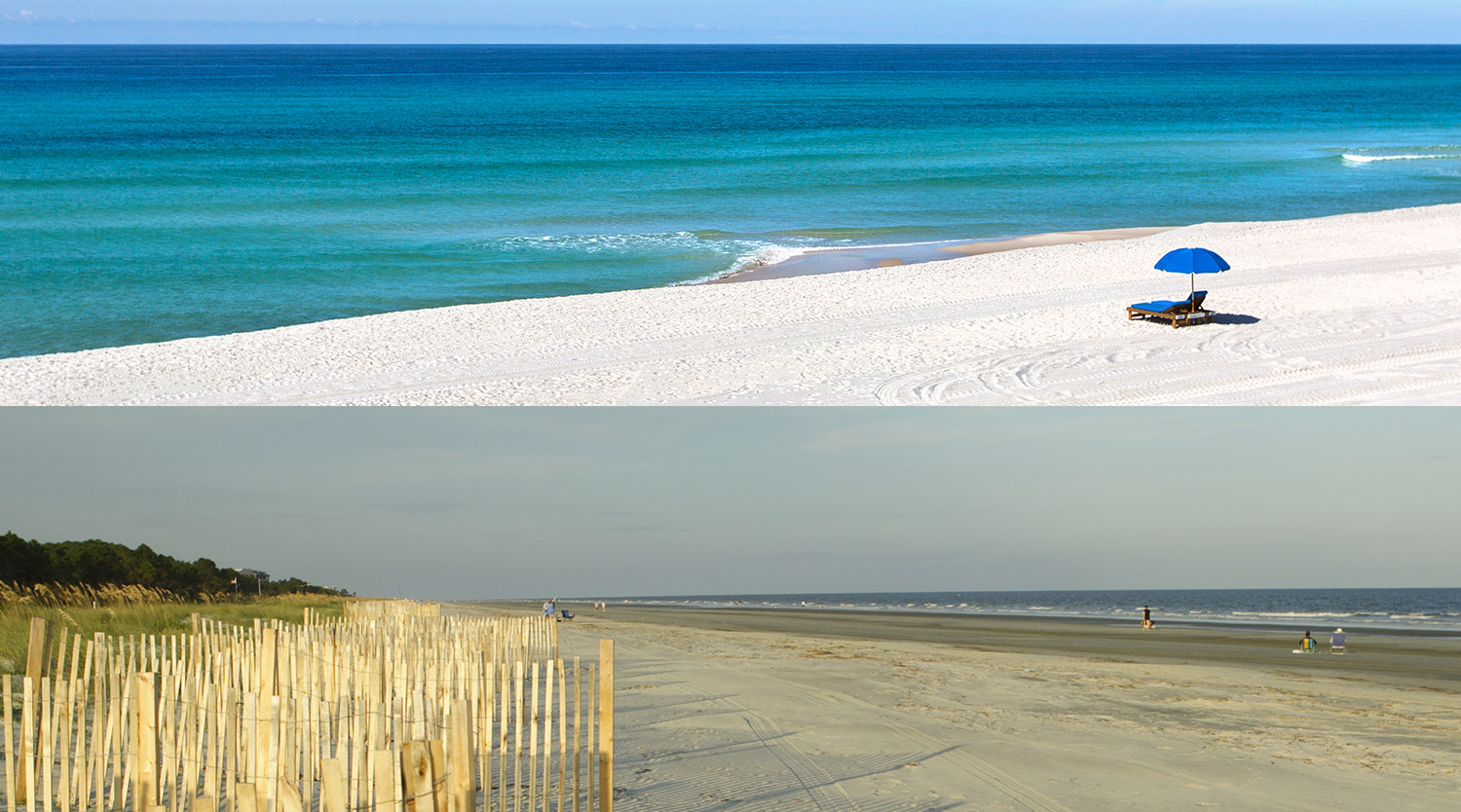 Destin vs Hilton Head Beach
